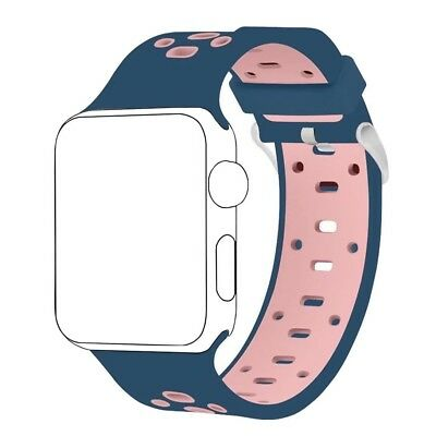 (38MM, Midnight Blue/Light Pink) - Band for Apple Watch 38mm ,Langte Soft