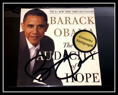AUTOGRAPHED HAND SIGNED BARACK OBAMA Audacity Hope (Signature cover) COA FreeS&H