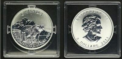 Kanada 5 Dollar 2011 Wildlife Serie Grizzly Bär 1Unze Silber in Kapsel