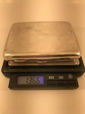 Stunning Heavy antique Solid Silver Cigarrette Case - 136.6g - 1906