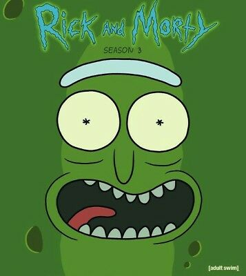 Rick and Morty Season 3 The Complete 3rd Season  DVD 2017 2 Disc's Ships FREE