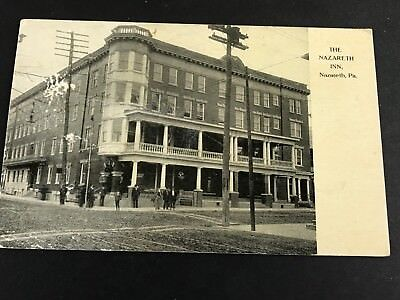 Nazareth Pa Inn Hotel Street Corner Men People Early 1900 S Postcard