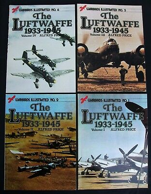 "4 Hefte Warbirds Illustrated :  "" The Luftwaffe 1933-1945 ""  Alfred Price"