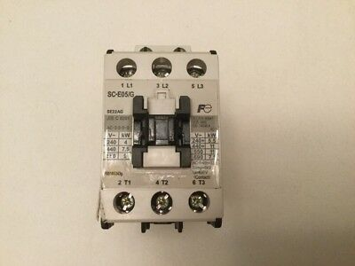 Fuji Electric Magnetic Contactor Part# SC-E05/G  24 VDC Coil