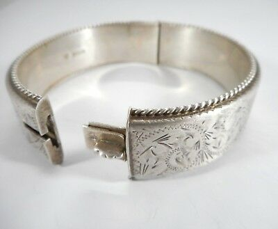 Vintage 925 Solid Sterling Silver Bracelet Bangle Hallmarked Birmingham 32 g