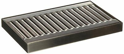 """5"""" X 8"""" X 3/4 Surface Mount Drip Tray - No Drain - Stainless Steel # 4 Brushed"""