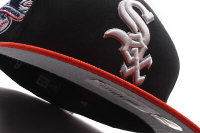 Chicago White Sox -Grey Bottom New Era 59Fifty - Black/Orange Patch Fitted Cap