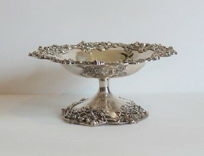 "Sterling Silver 7.5"" Tazza Compote, Black, Starr & Frost, New York, c.1890"