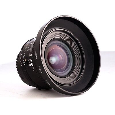 Nikon 20mm f/2.8 AF w HB-4 hood, FREE SHIPPING, NIKKOR USER MECHANICALLY PERFEC