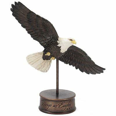 "Dicksons Gifts 7 inch ""Wings As Eagles"" Isaiah 40:31 Resin Stone Eagle Figurine"