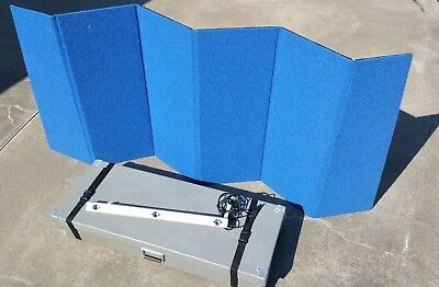 Folding Table Top Trade Show Display 7'x3' Black Velcro Ready Carrying Case