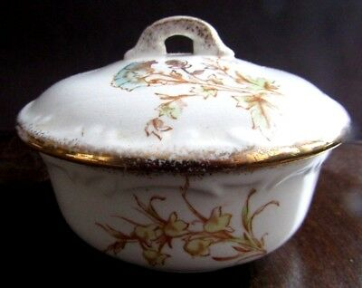 Small Maddocks Lamberton Works Royal Porcelain Covered Bowl White with Flowers