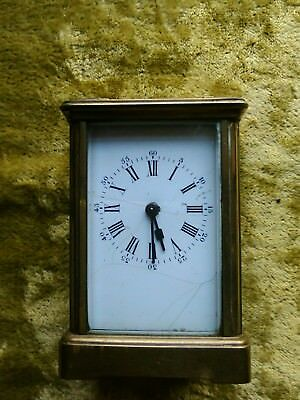 antique mantel carriage clock solid brass carriage wind up