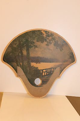 "Vintage Hand Fan-Cardboard Advertisement-""Burgermeister Beer"""