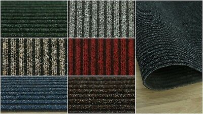 HEAVY DUTY ENTRANCE MATTING, HEAVY CONTRACT, RIBBED CARPET, HARD WEARING 1m WIDE