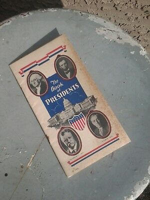 Vintage 1936 The Book Of Presidents Advertising Greens Cigar Seattle