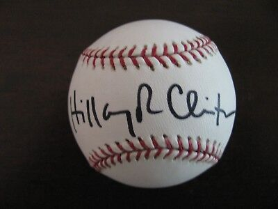Autographed Hillary Clinton and Chelsea Clinton Baseball JSA Authencation COA