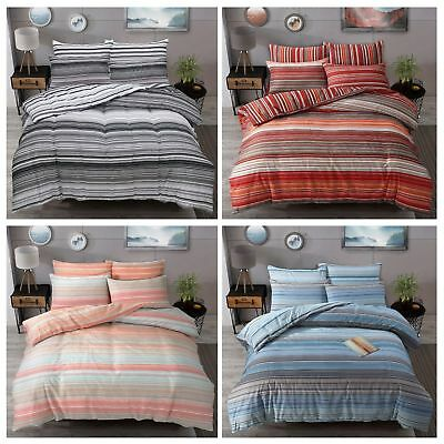 Ombre Stripe Luxury Duvet Covers Quilt Cover Reversible Bedding Sets by Pieridae