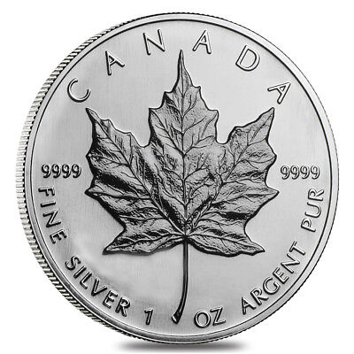 2003 1 oz Canadian Silver Maple Leaf .9999 Fine $5 Coin BU (Sealed)
