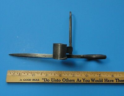 """7 1/4"""" Colorado Blacksmith-made Miner's Candlestick, small but heavy duty style."""