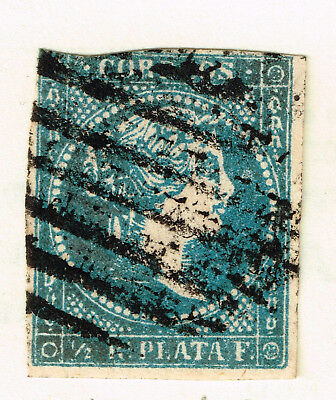 Spain Colonial Empire Queen Isabella 2 classic stamp 1856 #12
