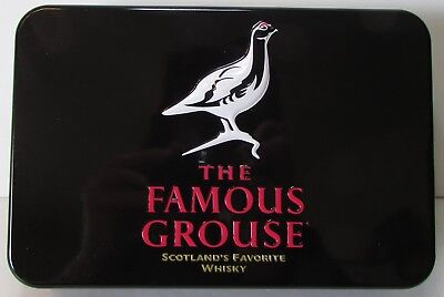 Famous Grouse Poker Set in Tin - 2 decks of cards, 75 chips, NEW! Scotch Whisky