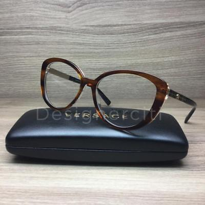 00cc294d9f5bf VERSACE VE 3229 Eyeglasses Havana Gold Black 5191 Authentic 54mm ...