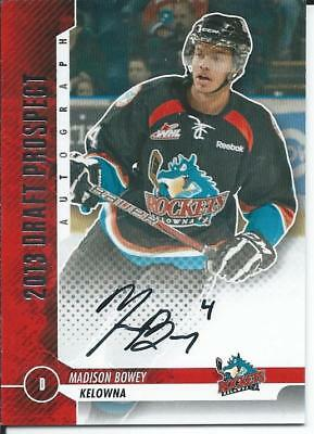 2012-13 2013 ITG Draft Prospect Silver Version MADISON BOWEY #A-MB2 Autograph