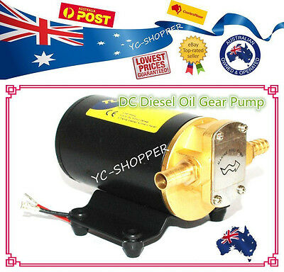 12V 24V Biodiesel Diesel Light Fuel Oil Gear Transfer Pump 14L/min