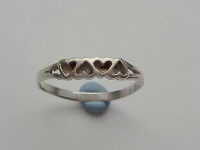 Silver Hearts Ring Metal Detecting Find