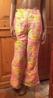 Vintage Pants Womens 4 60s Terry Cloth ~ Handmade ~ 95% Complete ~ Incredible