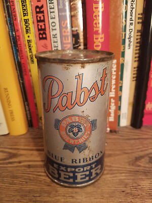 Pabst Blue Ribbon EXPORT 12oz Flat Top Beer Can OI & IRTP  Premier - Red Opener