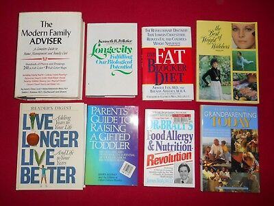 Lot of 27 Assorted Books - Family Health Diet College Education Cookbook