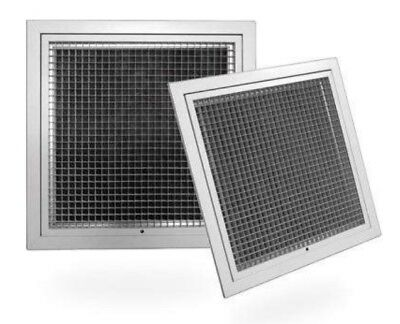 Hinged Eggcrate Grille With Filter  FACE:595 x 595mm, Neck 545 x  545