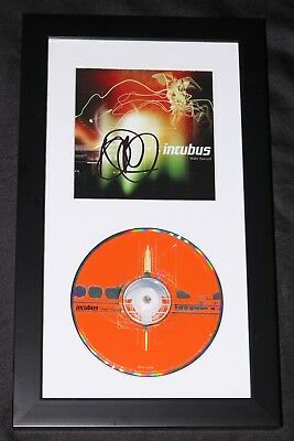 BRANDON BOYD HAND SIGNED & FRAMED INCUBUS MAKE YOURSELF CD COVER + PROOF photo