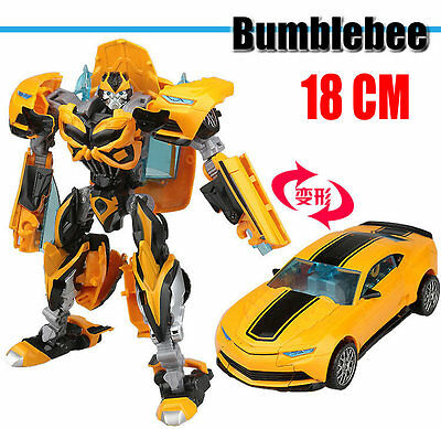 "Kid Toy TF4 Movie Age Of Extinction DELUXE Bumblebee 6"" Action Figure Sports Car"