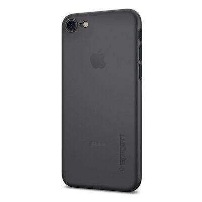 iPhone 7 Case, Spigen [Air Skin] Ultra-Thin [Black] Premium Semi-transparent