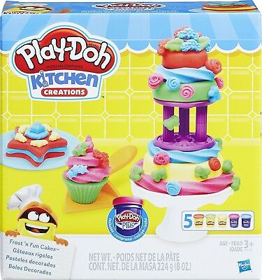 (Frost N Fun Cakes Mould Set) - PLAY-DOH B9741EU4 Kitchen Creations Frost N