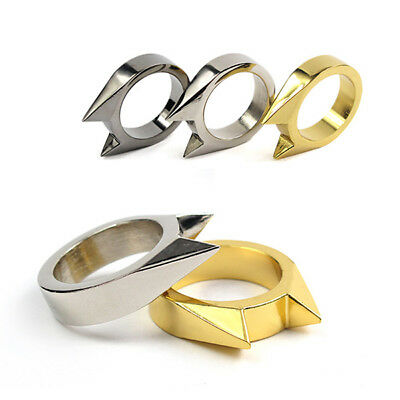 Cat Ear Self Defence Finger Ring Pendant Keychain Multifunction Outdoor Survival