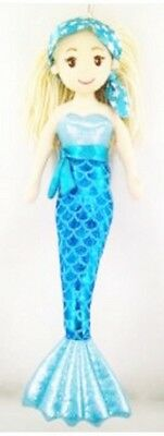 Brand New Cotton Candy 45cm MICHELLE blue Mermaid Child's Soft Toy Doll