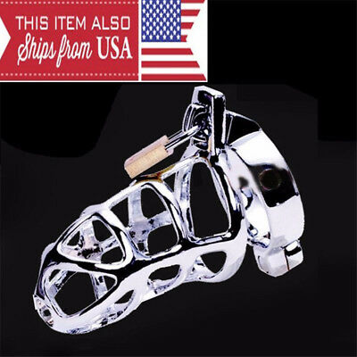 Ring Design Stainless Steel Bird Cage Male Chastity Belt Devices Lock