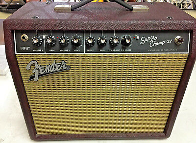 FENDER Electric GUITAR AMPLIFIER - Fender super champ X2 Ltd Edition Maroon