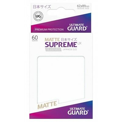 ULTIMATE GUARD UX Supreme 60ct Matte Frosted Card Protectors 62 x 89mm Yugioh