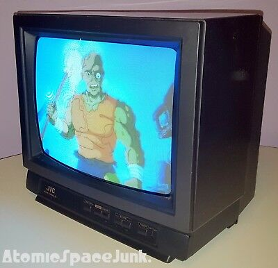Jvc Vintage Television Set Master Command Iii 13-Inch Color Tv 1989
