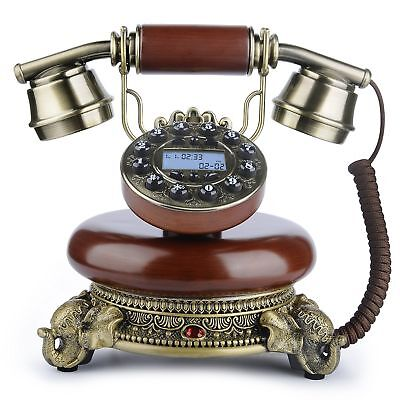 Vintage Landline Telephone Desk Classic Decoration Bedroom Living