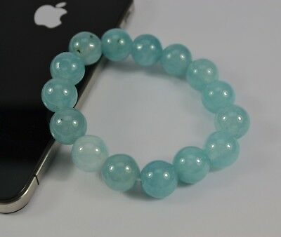 AU Light Blue 12mm Diameter Yunan Color Stone Bead Stretch Bracelet Girl Gift #2