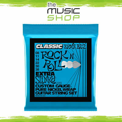 5 Classic Ernie Ball 2255 Rock N Roll Extra Slinky Electric Guitar Strings 8-38