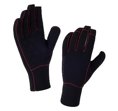 (XX-Large, Black/Charcoal) - SEALSKINZ Neoprene Gloves. Delivery is Free