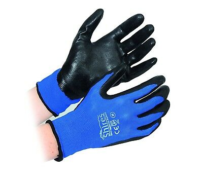 (X-Large, Blue/Black) - Shires All Purpose Yard Gloves. Best Price