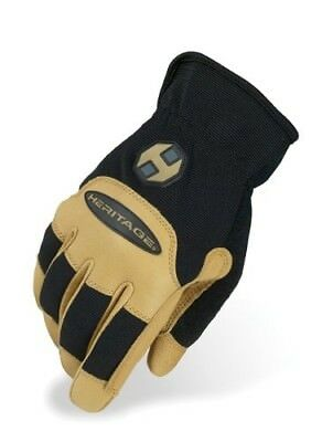 (9, Black/Tan) - Heritage Stable Work Glove. Heritage Products. Free Delivery